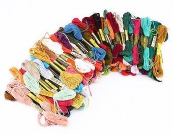 10 skeins of yarn for bracelet Brazilian embroidery multicolor cross stitch
