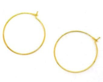 10 wine glass rings or earring gold 29 x 25 mm