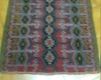 very niice old kilim size 4.26x2.95Vintage Turkish Kilim Rug Usak