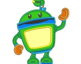 Team Umizoomi Bot Applique Design 3 sizes Instant Download