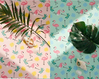 flamingo waterproof polyester 100% flamingo fabric/ shower curtain/ tablecloth/150cmx90cm/by the yard