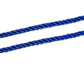 2 m of 5 mm - Royal Blue polyester cord