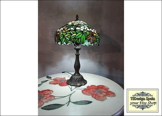 Lámpara Tiffany, Lámpara estilo Tiffany, Lámpara verde, Lámpara Tiffany mesa, Lámpara Tiffany salón, Lámpara Tiffany comedor, Tiffany verde