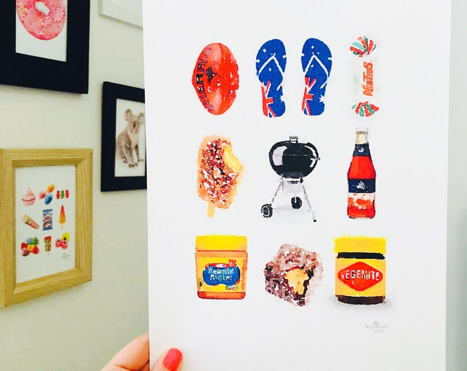 Iconic Australian BBQ Print - A4 Size Designed and Printed in Australia.