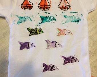 Fish 'n' Ships Onesie or Child's Tee