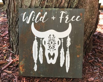 Wild and Free - Cow Skull