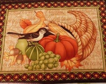 Fabric patchwork/decorating 1 bird and fruit 3 tile