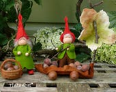 Gnomes with Wind Wagon - PDF pattern - intand download