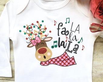 Baby Girl Christmas Onesie, Newborn Christmas Onesie, Personalized Baby Onesie, Reindeer Onesie, Baby Christmas Shirt, Baby Girl Shirt