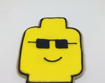 Lego Head Cookies Dozen