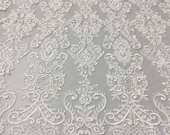 Lace Fabric/Ornament Heavy Bridal Lace Fabric/Ivory Lace