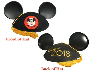 Class of 2018 Graduation Mickey Mouse Ear Hat with Tassel