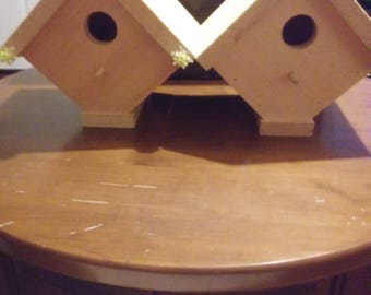 Unfinished Wooden Bird Houses.