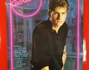 SALE 1980's Cocktail Movie Poster / Vintage 80's Tom Cruise Cocktail Movie Advertisement 90s Nerd Pop Culture Art Deco Collectible Movie Pos