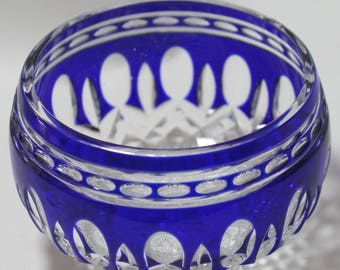Waterford Clarendon Blue Sm. Bowl or Votive Holder, Excellent condition