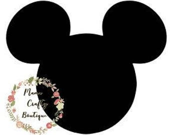Mickey Head SVG,PNG, DXF