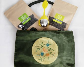 Exclusive Green Tea Set with Oriental Bag