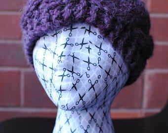 Purple Chunky Ear Warmer Headband