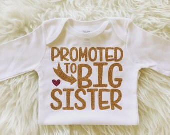 Big Sister Shirt Big Sister Gift Big Sister Outfit Promoted to Big Sister Announcement I'm Going To Be a Big Sister Little Sister Big Sis