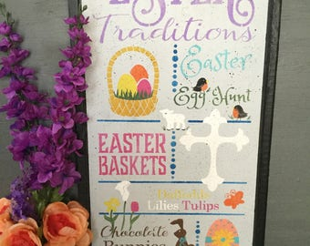 Easter Traditions Home Decor Piece