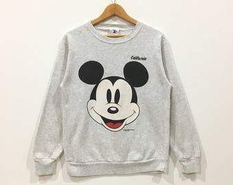 Vintage !!! Rare vintage mickey mouse california big logo sweatshirt