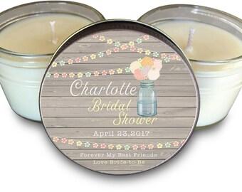 Bridal Shower Favors Set of 6 - 4 oz Charlotte Theme