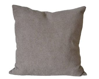 Sand pillow-cover, beige pillow-cover, soft furnishing-fabric w. structure, 50x50 cm/ 19,7x19,7 inch, for decorative pillow