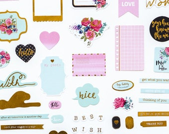 Lovedoki Die cuts / Embellishments / Ephemera / 100 pieces
