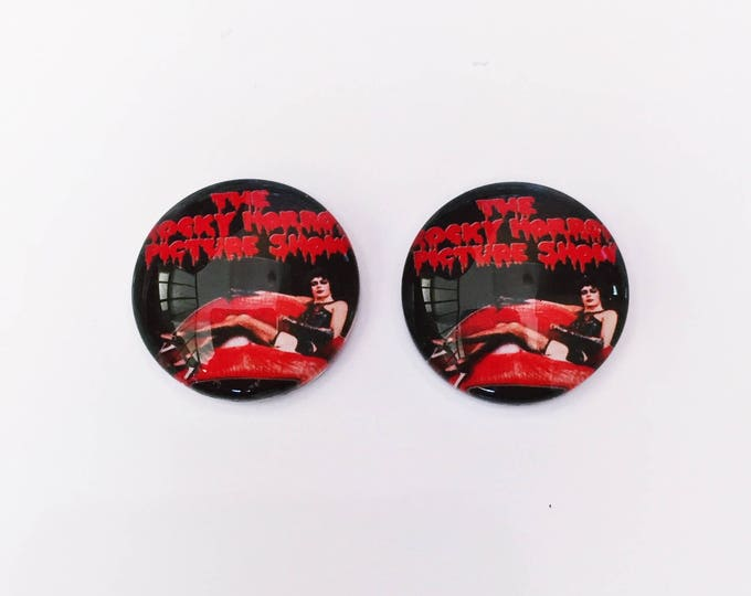 The 'Rocky Horror Picture Show' Glass Earring Studs