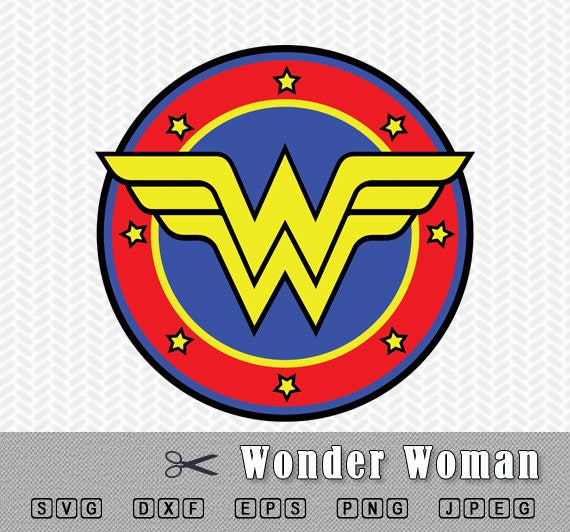 wonder woman layered svg png dxf logo vector cut file