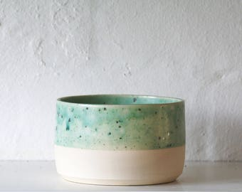 Plant Pot, Speckled Teal Pot, House Plant Pot, Handmade Ceramics, Handmade, Stylish, Contemporary, Housewarming Present, Birthday Present