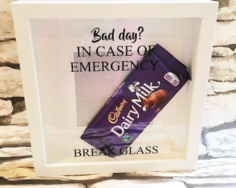 Personalised In Case Of Emergency - Break Glass Box Frame
