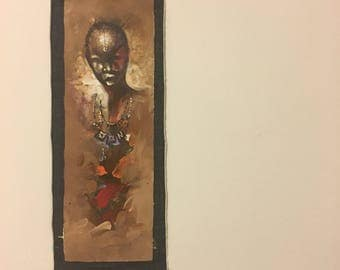 African Warrior Painting from Ghana