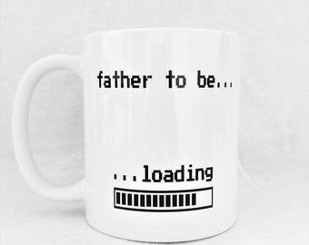 Father To Be Loading - Geek Gaming Coffee Mug - FREE UK Delivery - Ships Worldwide - Nerd - Retro - 8-Bit - Gamer Gift - Baby Shower Gift