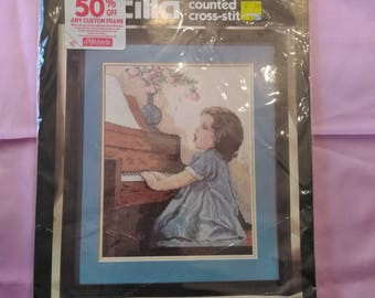 """Bucilla Complete in Package Counted Cross-Stitch """"Harmony"""" 11 x 14"""""""