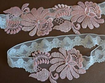 Wedding Garter Set, Bridal Garter Set, Pink Lace Garter, Pink Garter, Lace Garter, Wedding Garter, Pink Garter Wedding, Garter Blush Pink