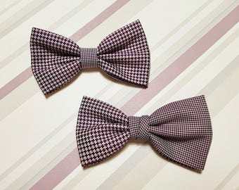 Bowtie for men white-red /  brown