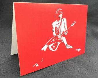Johnny Ramone Greeting Card