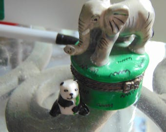 Elephant with Panda trinket