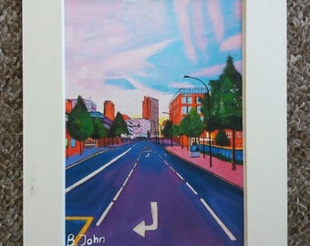 """Limited edition print - Eyre Street Sheffield  - A3, A4 or 7"""" x 5"""" Print of an Original Painting by Bryan John"""