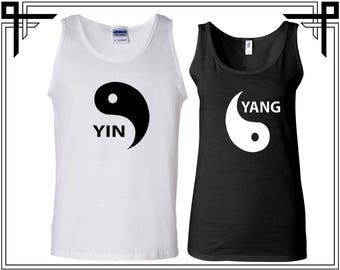 Yin Yang Tank Tops Couple Tank Top Party Tanks Couple Tops Love Top Anniversary Love Tanks Best Selling Tank Top - Price for 2 Tops