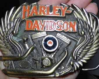 Awesome Vintage 1991 Harley Davidson Belt Buckle - See Shop for MORE Awesome Retro items! World Wide Priority Shipping!