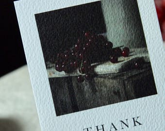Thank you cards//rustic style//farmhouse//Pack of 5 red currant still life thank you postcards with envelopes//art cards // still life photo