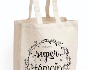 "Tote bag witness ""Super witness"""