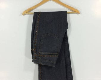 On sale 15% Vintage Moschino Hippie jeans/Designer Jeans/Bootcut Jeans/Punk Jeans/Rocker /Punk /Made In Italy 90s Style