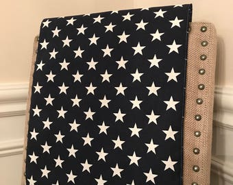 Patriotic Table Runner | Navy Table Runner | Patriotic Decor | Blue Star Table Runner | White Star Navy Table Runner | Cookout Decor | Home
