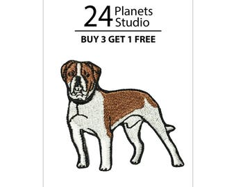 American Bulldog Iron on Patch by 24PlanetsStudio Cute Applique Cute Patch dog patch dogs