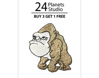 Gorilla Monkey Iron on Patch by 24PlanetsStudio