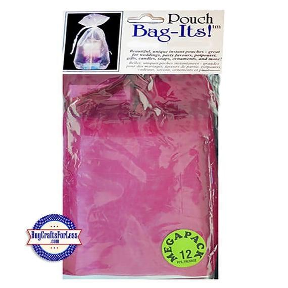 "Sheer Organza PARTY Bag-its, 72 pcs 3"" x 4"", rose burgundy +FREE SHIPPING + Discounts*"