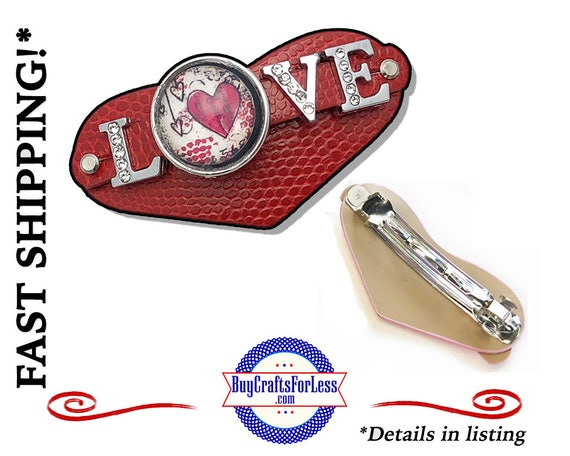HEART Hair BaRRETTE, LOVE Slider Cabochon - Best Seller - SuPER CuTE! +FReE SHIPPING*